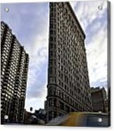 The Flat Iron Taxi Acrylic Print