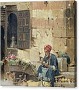 The Flower Seller Acrylic Print
