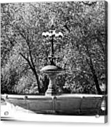 The Fountain In Black And White Acrylic Print