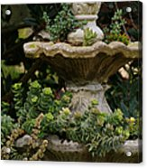 The Fountain Painterly Acrylic Print by Ernie Echols