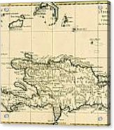 The French And Spanish Colony Of The Island Of St Dominic Of The Greater Antilles Acrylic Print by Guillaume Raynal