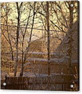 The Frosty Morning Acrylic Print