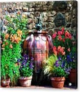 The Garden Cistern Acrylic Print