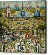 The Garden Of Earthly Delights By Hieronymus Bosch Acrylic Print