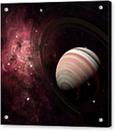 The Gas Giant Carter Orbited By Its Two Acrylic Print