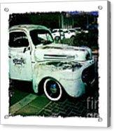 The Gentleman Scholar Truck Acrylic Print