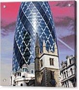The Gherkin London Acrylic Print by Jasna Buncic
