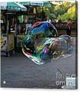 The Giant Bubble At Bethesda Terrace Acrylic Print