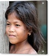 The Girl In The Plastic Earrings  Acrylic Print