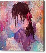 The Girl Of Many Colors Acrylic Print