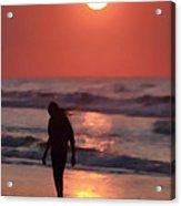 The Girl On The Beach Acrylic Print