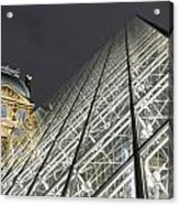 The Glass Pyramid And The Louvre At Dusk Acrylic Print