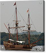 The God Speed Tall Ship Acrylic Print