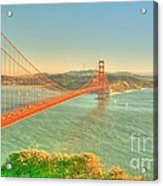 The Golden Gate Bridge  Fall Season Acrylic Print by Alberta Brown Buller