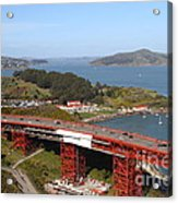 The Golden Gate Bridge North Side Overlooking Angel Island And Tiburon And Horseshoe Bay . 7d14494 Acrylic Print