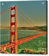 The Golden Gate Bridge Summer Acrylic Print by Alberta Brown Buller