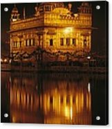 The Golden Temple Is Reflected Acrylic Print