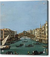 The Grand Canal Acrylic Print by Antonio Canaletto