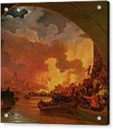 The Great Fire Of London Acrylic Print