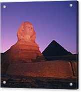The Great Sphinx Is Illuminated Acrylic Print