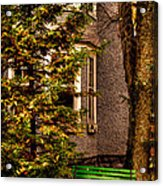 The Green Bench Acrylic Print