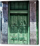 The Green Door In The French Quarter Acrylic Print
