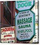 The Green Door San Francisco Acrylic Print