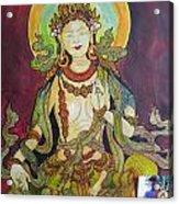 The Green Tara Acrylic Print