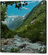 The Green Valley Acrylic Print