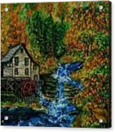 The Grist Mill in Autumn Acrylic Print