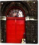 The Guitar And The Red Door Acrylic Print