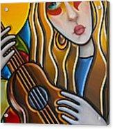 The Guitar Girl Acrylic Print