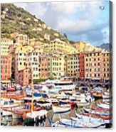The Harbor At Camogli Acrylic Print