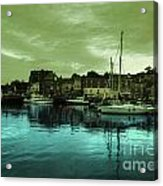 The Harbour At Padstow Acrylic Print