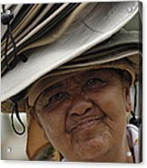 The Hat Lady Costa Rica Acrylic Print