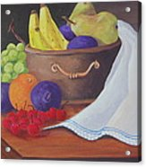 The Healthy Fruit Bowl Acrylic Print by Janna Columbus