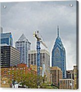 The Heart Of The City - Philadelphia Pennsylvania Acrylic Print by Mother Nature