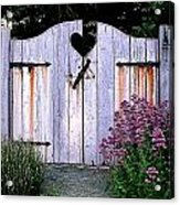 The Heart, Like An Old Gate Needs Care And Attention Acrylic Print