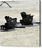 The Helmet, Shield And Baton Used Acrylic Print