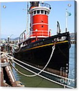 The Hercules . A 1907 Steam Tug Boat At The Hyde Street Pier In San Francisco California . 7d14137 Acrylic Print