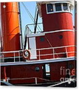 The Hercules . A 1907 Steam Tug Boat At The Hyde Street Pier In San Francisco California . 7d14143 Acrylic Print by Wingsdomain Art and Photography