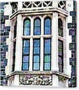 The Heritage Windows Of The Teachers' College Acrylic Print