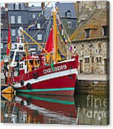 The Historic Fishing Village Of Honfleur Acrylic Print