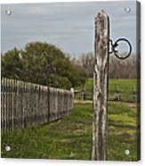 The Hitching Post Acrylic Print