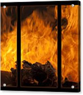 The Home Fires Are Burning Triptych Acrylic Print