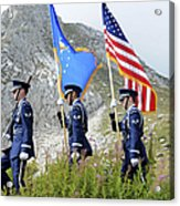 The Honor Guard Posts The Colors Acrylic Print