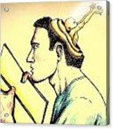 The Human Symbolic Communication Acrylic Print by Paulo Zerbato