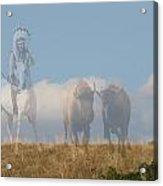 The Hunter Of Buffalo Acrylic Print