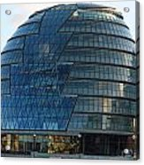 The Imposing Glass Greater London Mayoral Building On The Banks Of The Thames Acrylic Print
