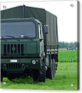 The Iveco M250 8 Ton Truck Acrylic Print by Luc De Jaeger